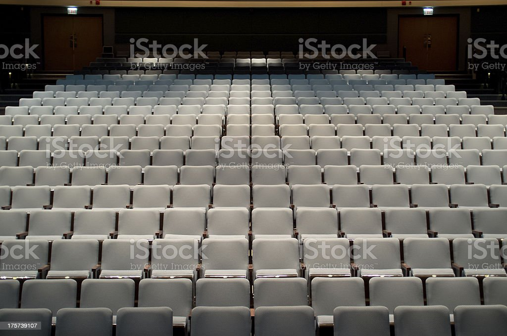 Seats in a theatre stock photo