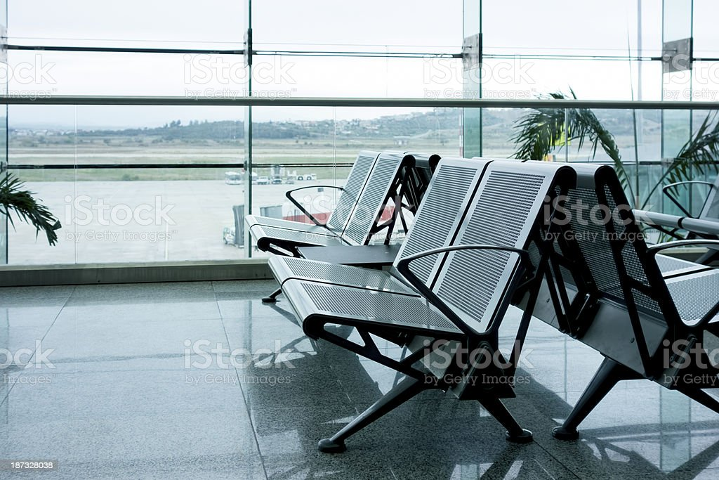 Seats In Airport Lounge royalty-free stock photo