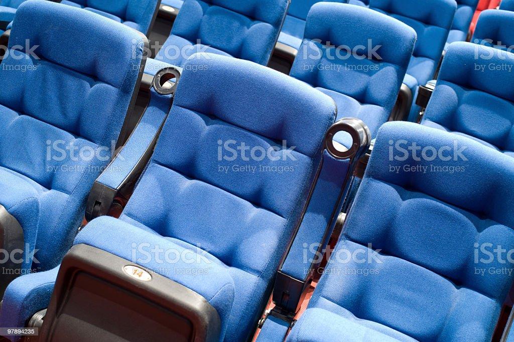 seats in cinema royalty-free stock photo