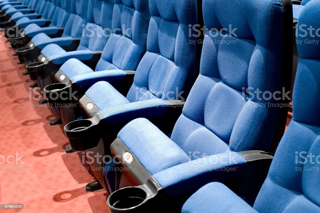 seats in cinema royalty-free stock photo