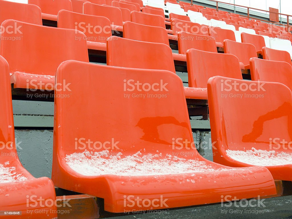 seats on a stand royalty-free stock photo