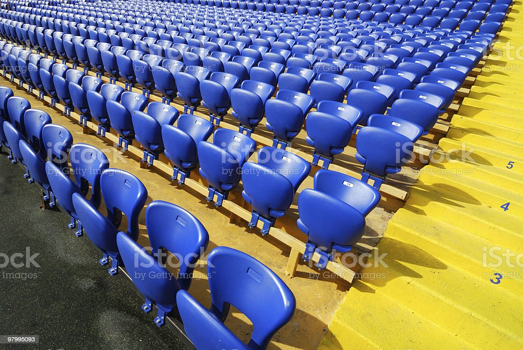 seats on stadium royalty free stockfoto