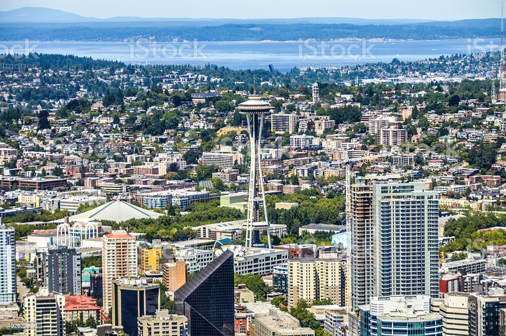 Seattle aerial view stock photo