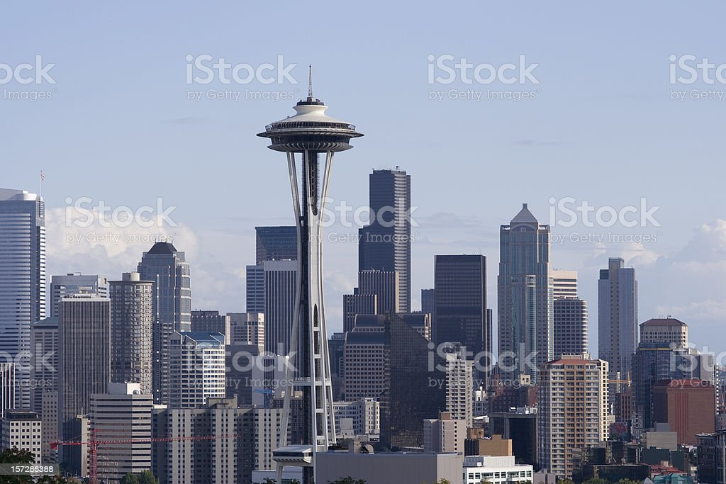Seattle and Space Needle stock photo
