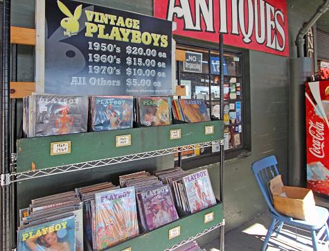 Mercato Dellantiquariato Di Seattlevintage Playboy Riviste - Fotografie stock e altre immagini di Antico - Vecchio stile