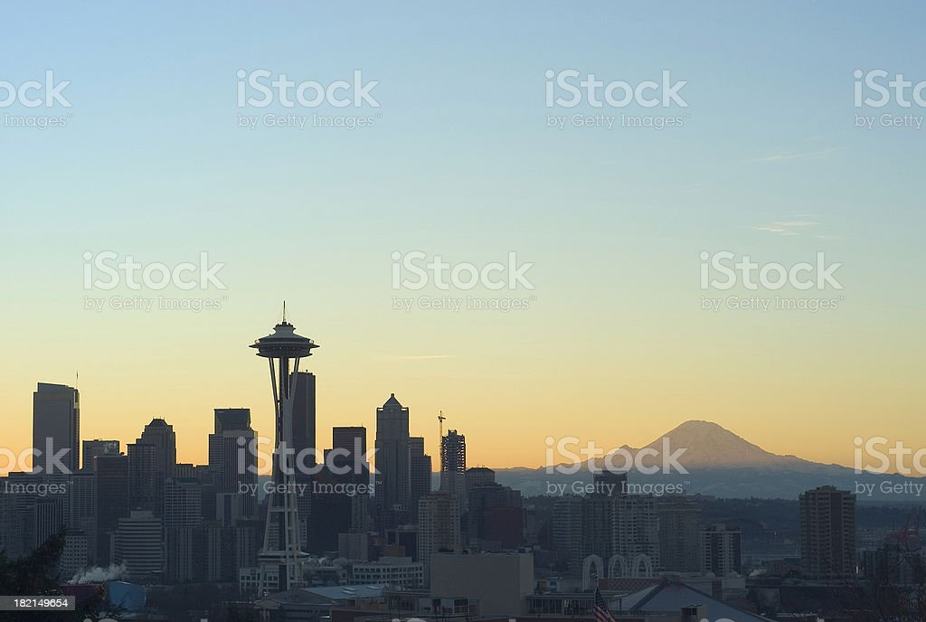 Seattle at Dawn royalty-free stock photo