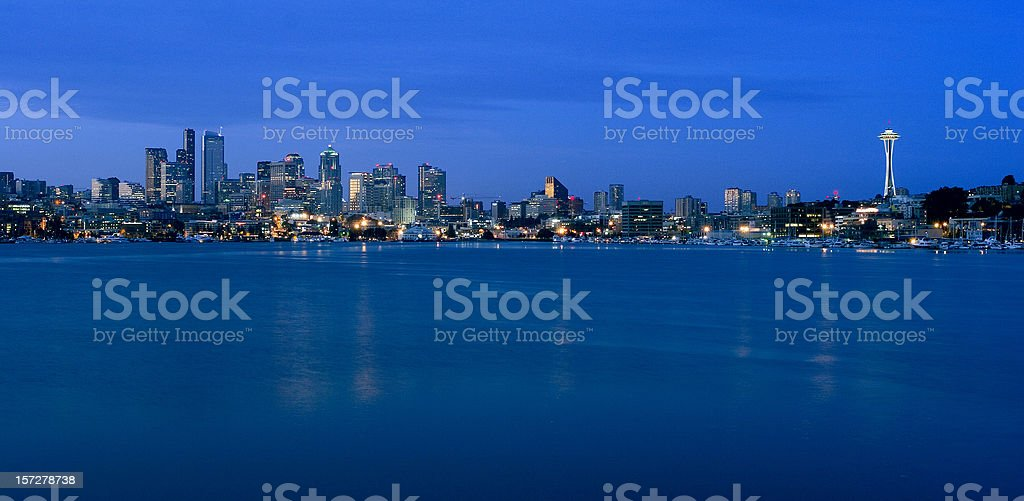 Seattle at first light stock photo