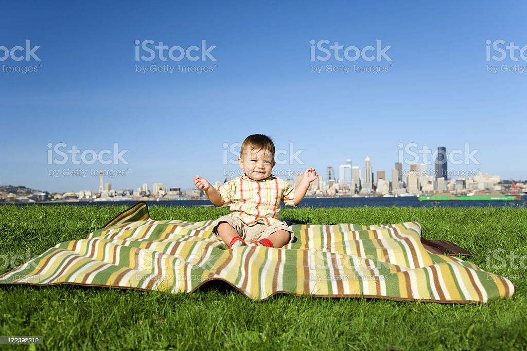 Seattle Baby royalty-free stock photo