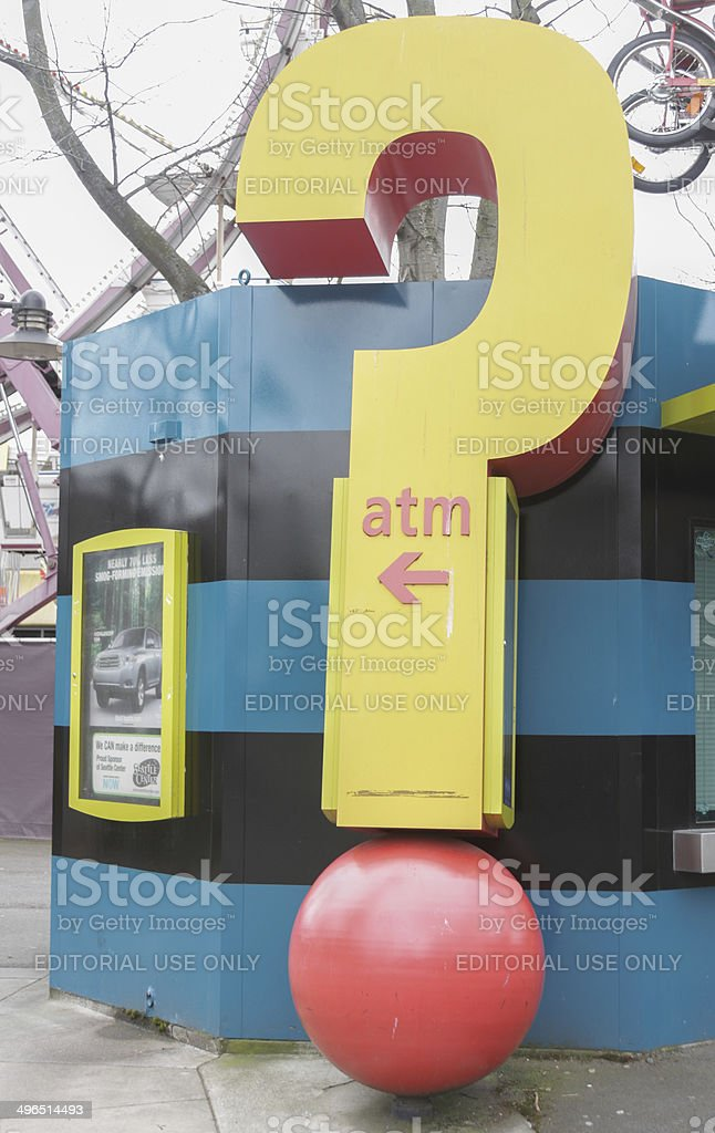 Seattle Center ATM Sign royalty-free stock photo