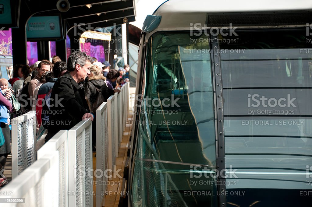 Seattle Center Monorail royalty-free stock photo