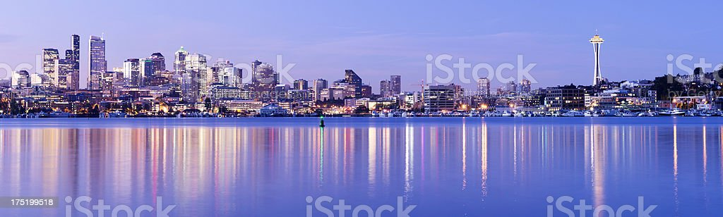 Seattle City Skyline in the USA royalty-free stock photo