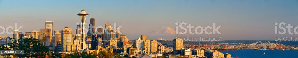 Seattle city skyline stock photo