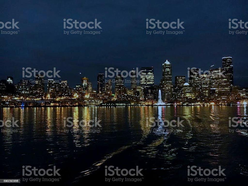 Город Сиэтл Skyline Стоковые фото Стоковая фотография