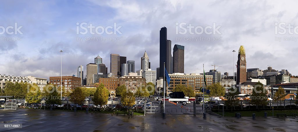 Seattle City skyline, Washington State, USA stock photo