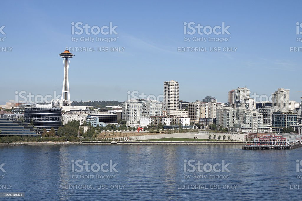 Seattle Cityscape and Waterfront royalty-free stock photo