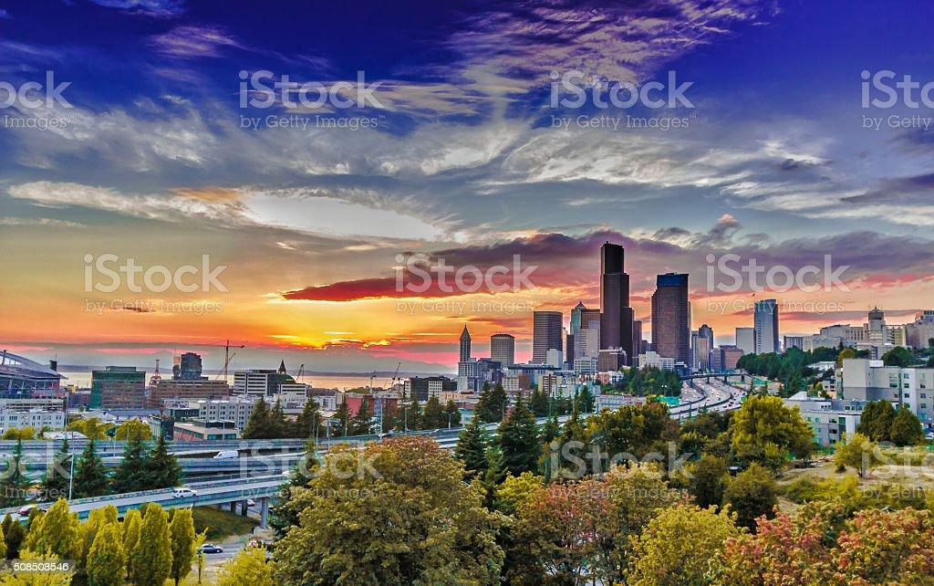 Seattle Cityscape stock photo