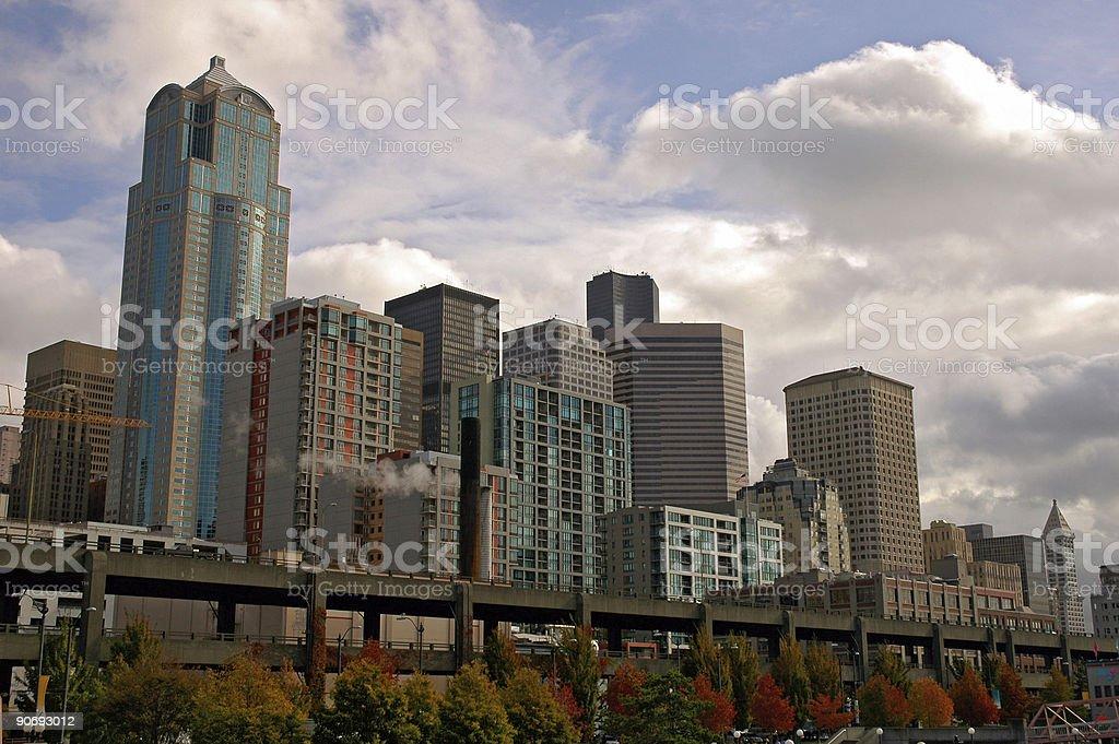 Seattle Cityscape royalty-free stock photo