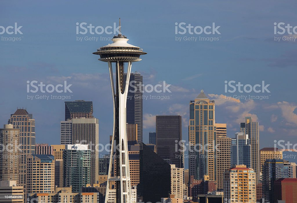 Seattle Detailed royalty-free stock photo