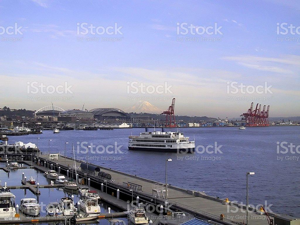 Seattle Dock View stock photo