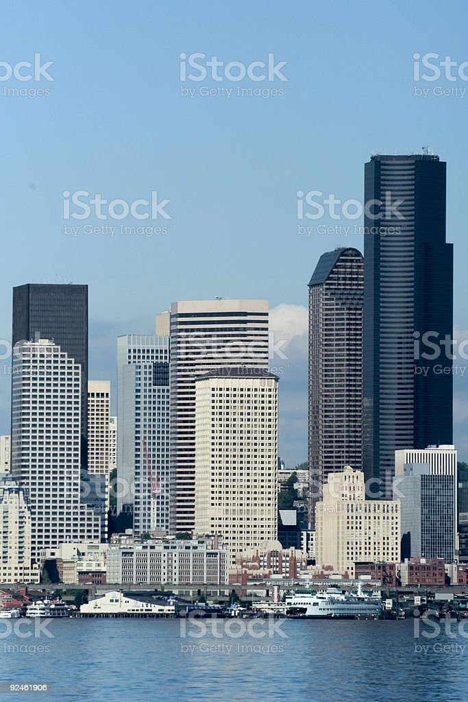Seattle downtown at daylight royalty-free stock photo