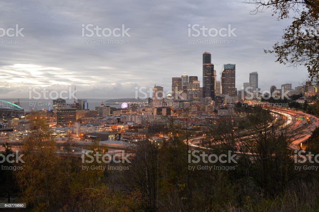 Seattle Dowtown stock photo
