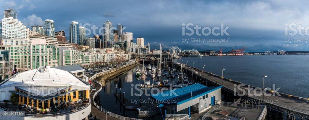 Seattle dowtown skyline stock photo