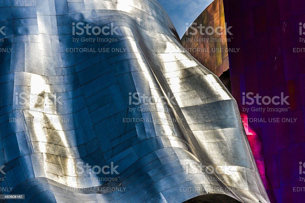 Seattle Experience Music Project stock photo