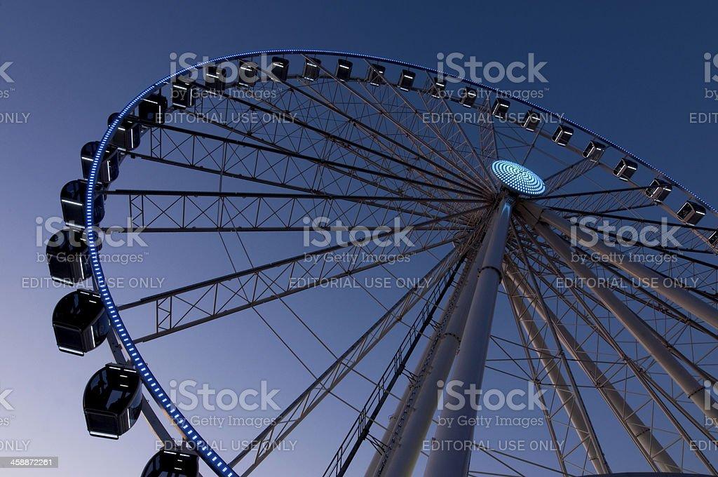 Seattle Ferris Wheel royalty-free stock photo
