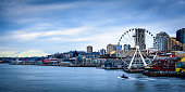 The Seattle Ferris Wheel and skyline.