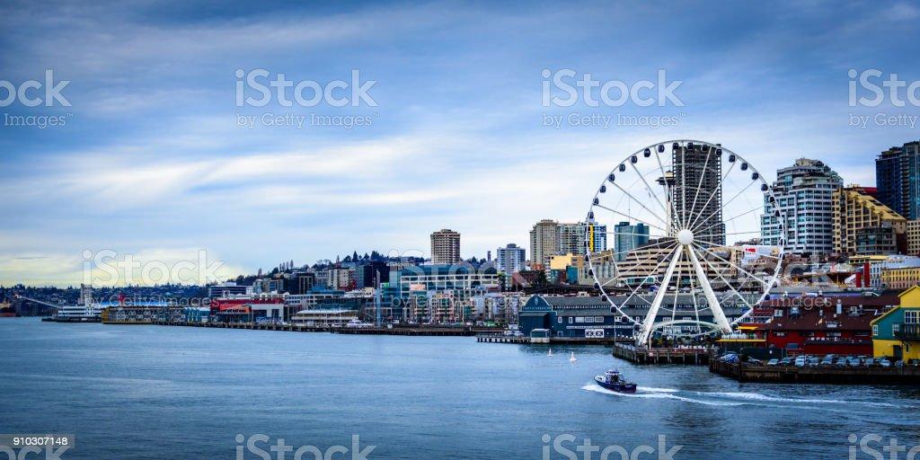 Seattle Ferris Wheel stock photo