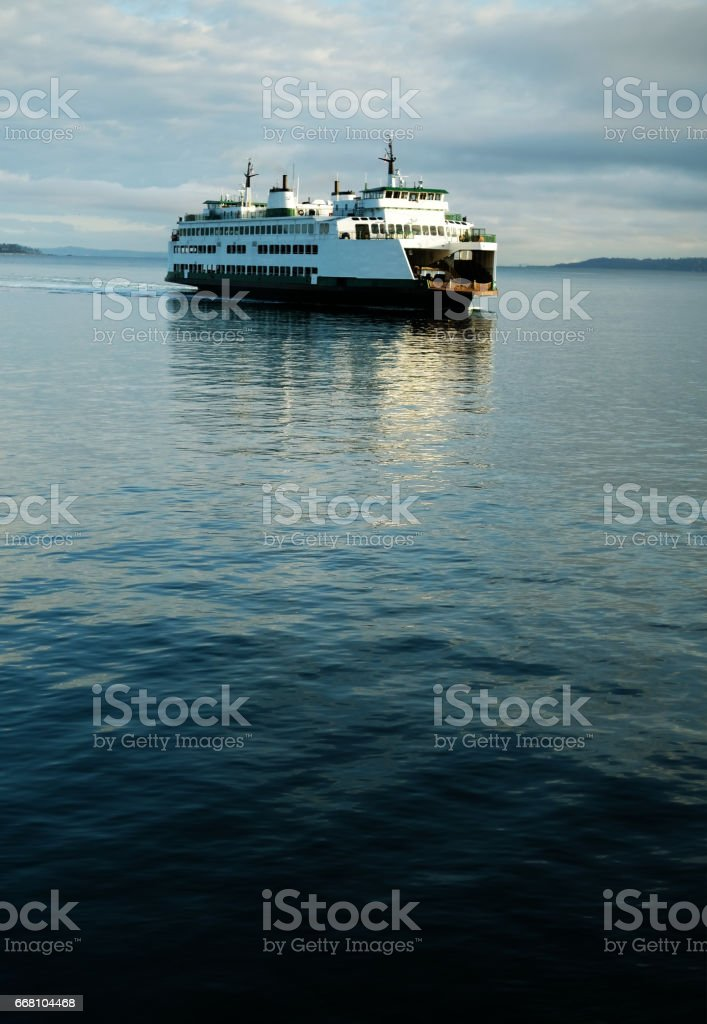 Seattle Ferry Crossing Puget Sound - Photo
