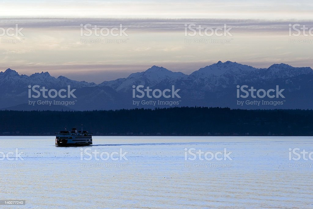 Seattle ferry on the puget sound royalty-free stock photo