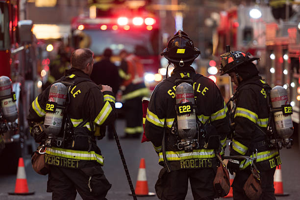 Seattle Fire stock photo