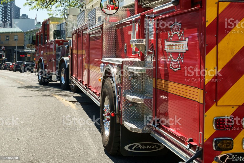 Seattle fire truck stock photo