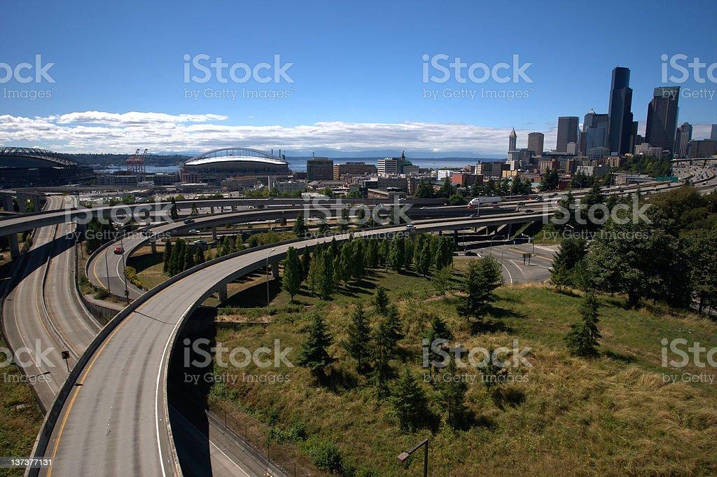 Seattle Freeway stock photo