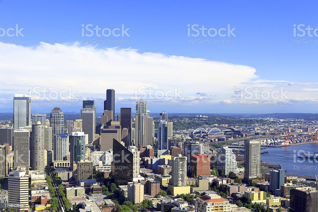 Seattle from above royalty-free stock photo
