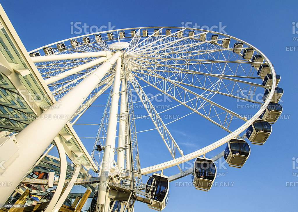Seattle Great Wheel royalty-free stock photo