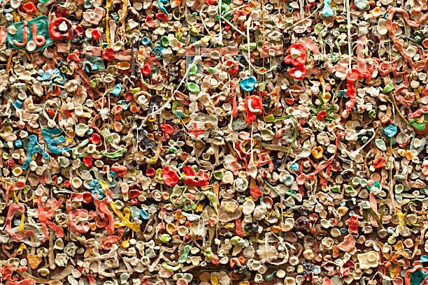 Seattle Gum Wall stock photo