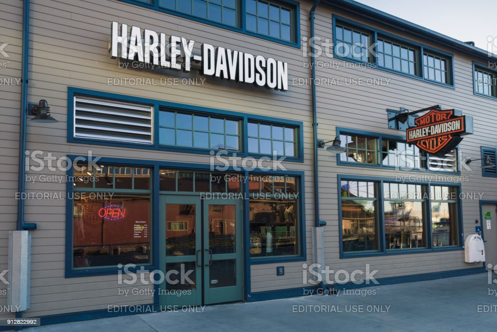 Harley Davidson Seattle >> Seattle Harley Davidson Stock Photo More Pictures Of