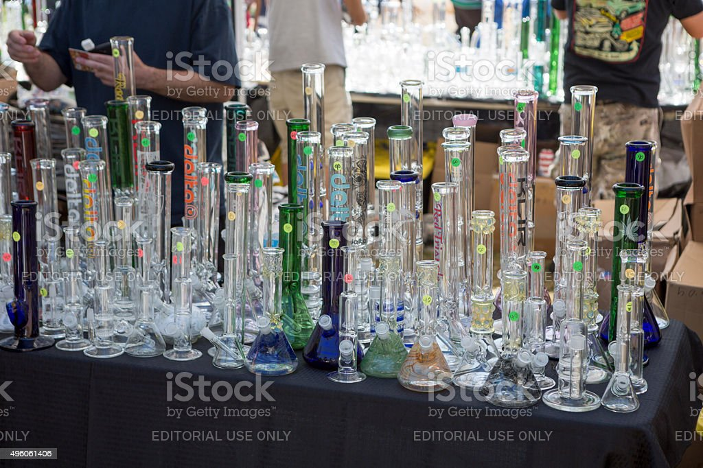 Seattle Hempfest Marijuana Festival 2015 stock photo