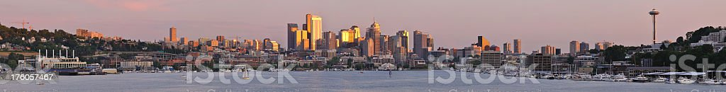 Seattle - Lake Union Sunset stock photo