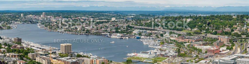 Seattle Lake Union waterfront Freiwilligen Park panorama – Foto