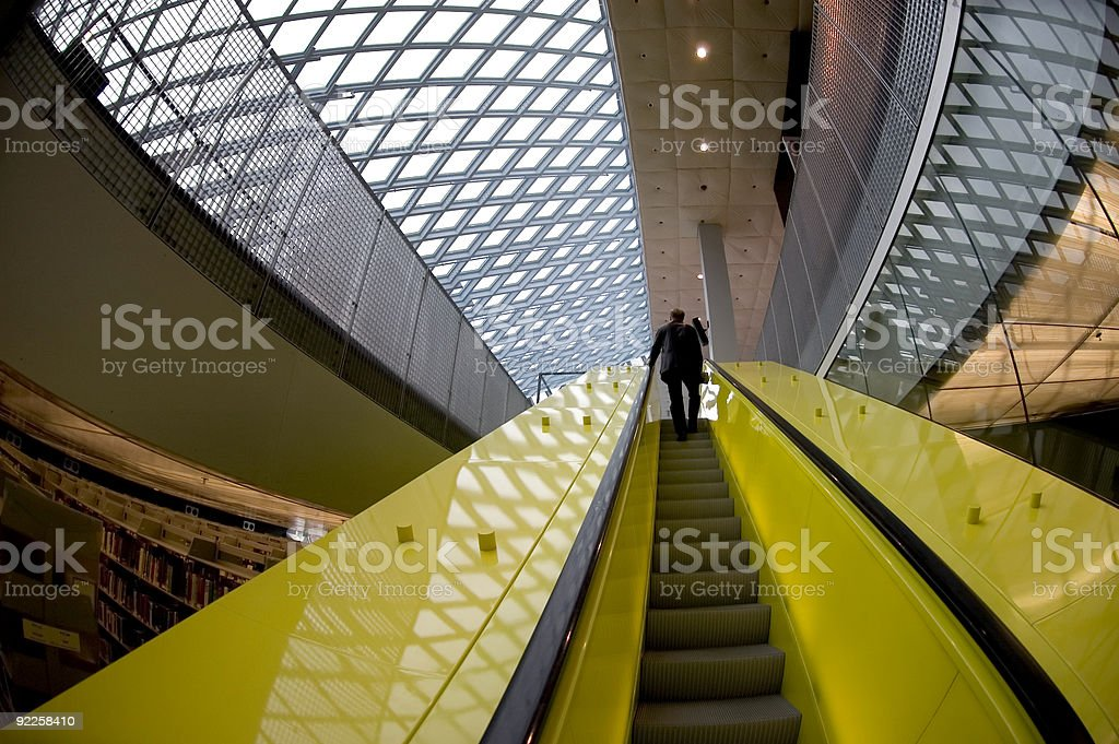 Seattle Library - Top Floor stock photo