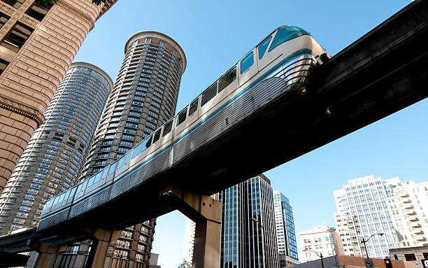 Seattle Monrail stock photo