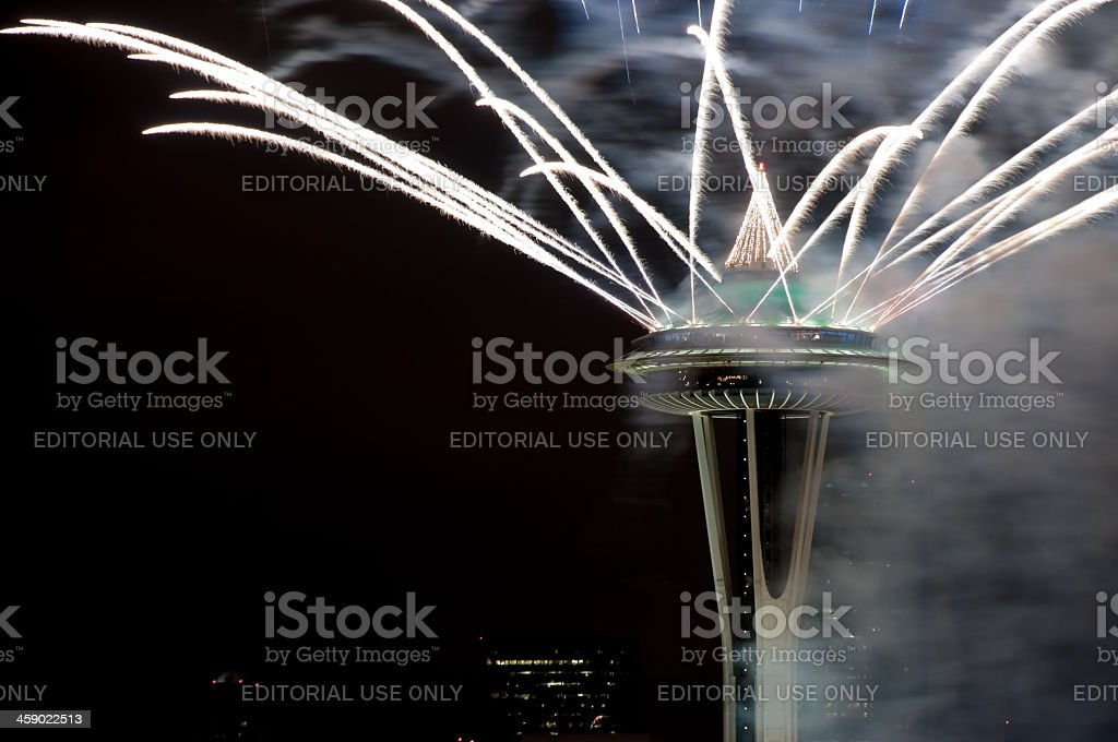 Seattle New Years Eve royalty-free stock photo