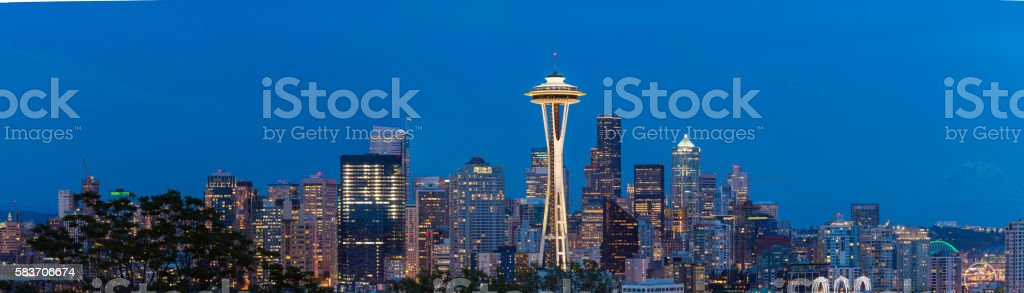 Seattle Panaramic stock photo
