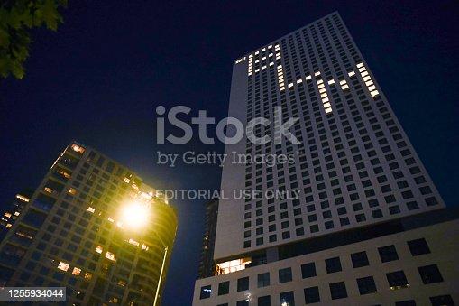 Seattle, USA – Jun 18, 2020: The Hyatt Regency early in the evening in downtown Seattle.