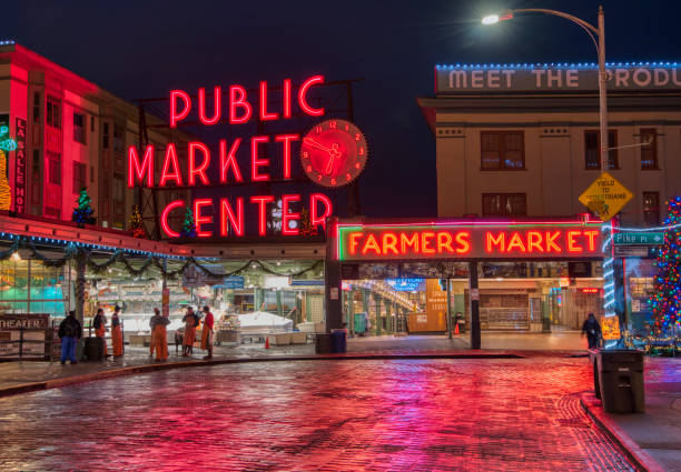 Seattle Pike Place Market in the Morning - foto stock