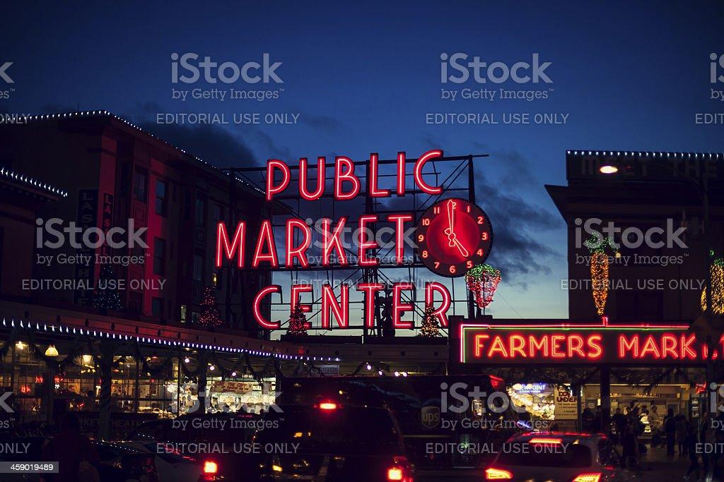 Seattle Pike Place Public Market royalty-free stock photo