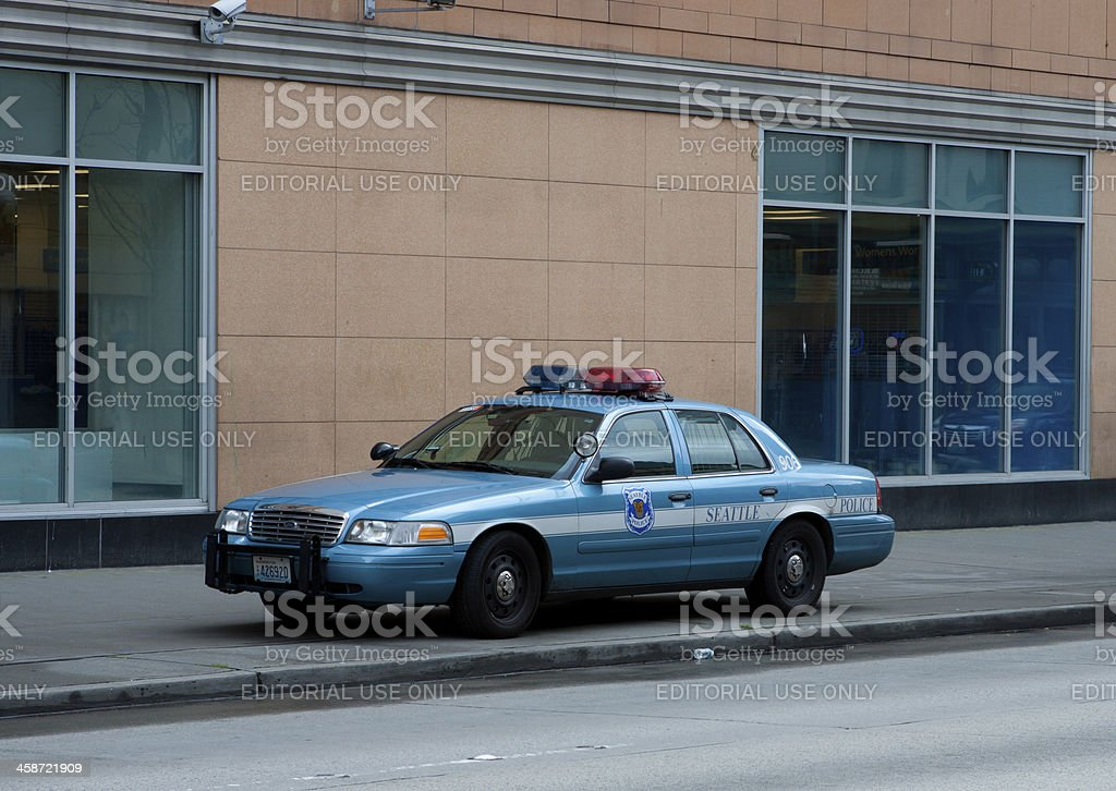 Seattle Police Car royalty-free stock photo